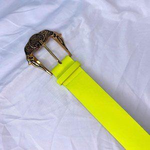 Neon green waist belt